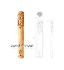 Ornamental corner column with acant...