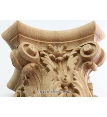Wooden Baroque-style capitals for r...