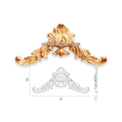 Architecture furniture onlays for fireplace