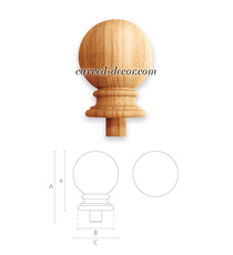 Classical carved Ball finial for st...