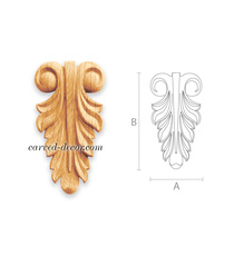 Hand carved acanthus leaf scroll ap...
