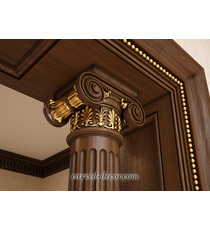 Empire-style Ionic wooden capital c...