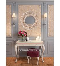 Round mirror frame, Wooden Sun mirror frame