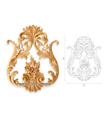 Artistic carved wood appliques for doors