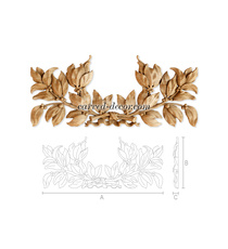 Empire style laurel branches center...