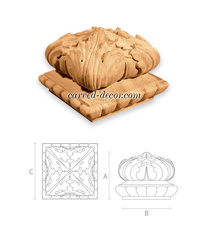 Ornamental carved newel caps / Victorian finial top for stair