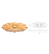 Architectural wooden rosettes appli...
