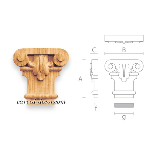 Victorian carved capital for cabinets