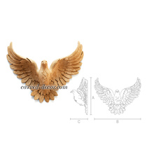 Carved flying dove sculpture for in...