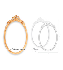 Romantic style oval mirror frame wi...