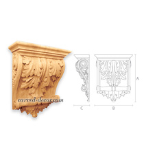 Wide acanthus corbel for fireplace ...