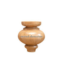 Unfinished decorative wooden legs f...