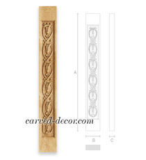 Art Nouveau style carved baluster w...
