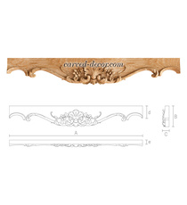 Hardwood architrave with a palmette...