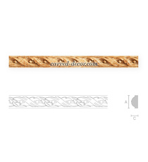 Classic style twisted moulding with...