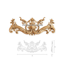 Baroque-style handcrafted floral ap...