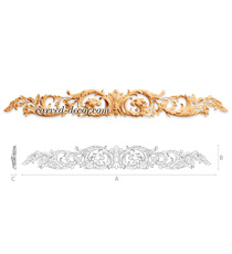Ornamental Baroque floral onlay wit...