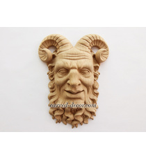 Carved Satyr head architectural ant...