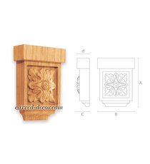 Neoclassical floral corbel, Carved ...