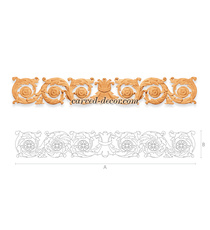 Baroque long scroll onlay with acan...