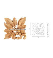 Carved laurel rosette onlay with be...