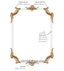 Hand carved corner overlays set with luxury elements
