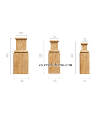 Handcrafted wooden pilaster base fo...
