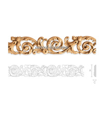 Baroque wooden moulding with acanth...