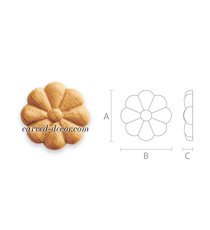 Unfninished small flower rounded ro...