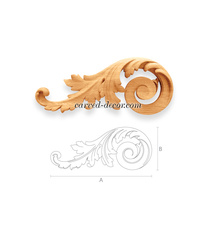 Acanthus furniture scroll appliques...