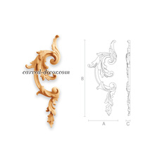 Decorative vertical onlay for doors, Right