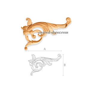 Unfinished wood appliques for cellar