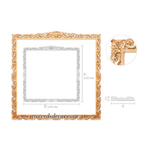 Large acanthus frame for mirrors an...
