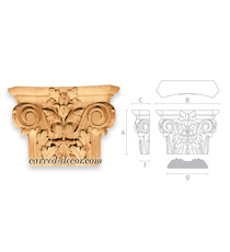 Roman style wooden capitals with fl...