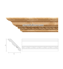 Classical carved cornice, Wide crown moulding