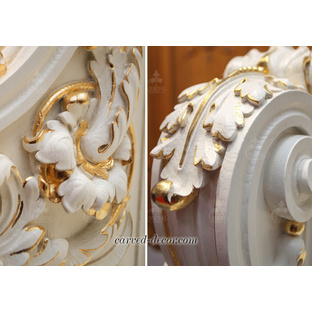 Carved oak stair spindles for sale