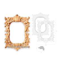 Antique wall mirror frame with acan...
