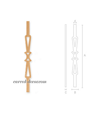 Unfinished Classic flat baluster fo...