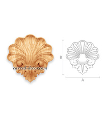 Solid wood shell scroll onlay for i...