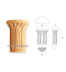 Floral Egyptian style capital for p...