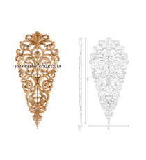 Decorative floral drop onlay for in...