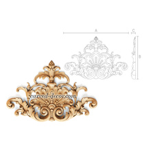Baroque beaded onlay with acanthus ...