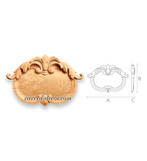 Ornamental beaded cartouche with ac...