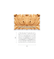 Furniture antique style onlay, Carved wall applique