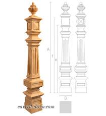 Renaissance style large wooden newe...