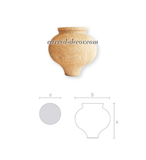 Antique style rounded support for f...