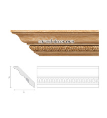 Floral crown moulding, Carved ceiling cornice