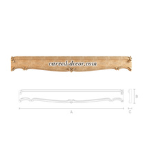 Decorative wood parts for bed, Carved wood furniture parts