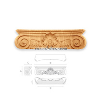 Large Baroque-style capital Shell w...