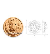 Carved Lion Head round medallion fo...